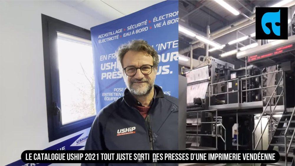 Le catalogue USHIP 2021 viens de sortir de l'imprimerie Pollina, en Vendée, cette année c'est 150000 exemplaires qui ont été imprimés